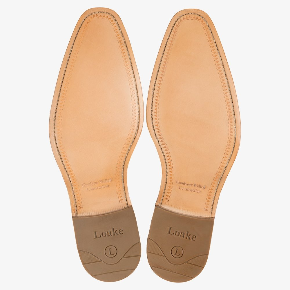 Loake Fearnley tan brogue oxford shoes