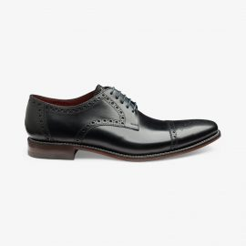 Loake Foley black brogue derby shoes