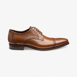 Loake Foley cedar brogue derby shoes