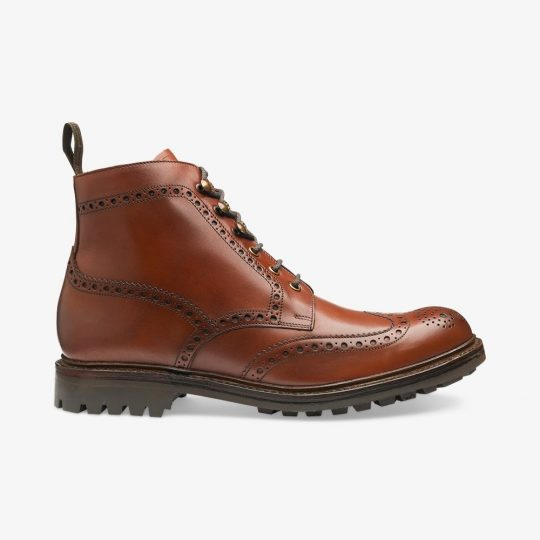 Loake Glendale conker brown brogue boots