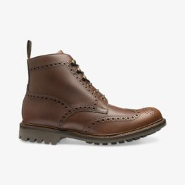 Loake Glendale brown leather brogue boots