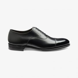 Loake Hanover onyx black toe cap oxford shoes