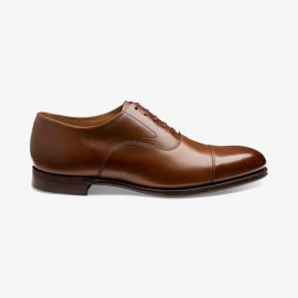 Loake Hanover smoked teak toe cap oxford shoes