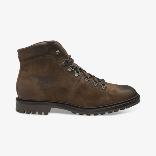 Loake Hiker suede brown boots