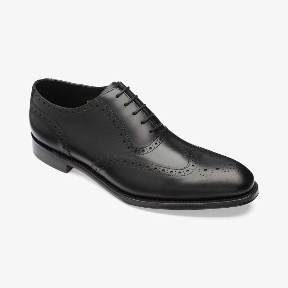 Loake Hodges black brogue oxford shoes