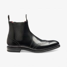 Loake Hoskins black brogue Chelsea boots