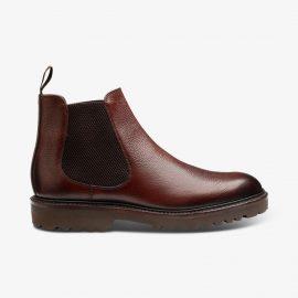 Loake Huxley burgundy Chelsea boots