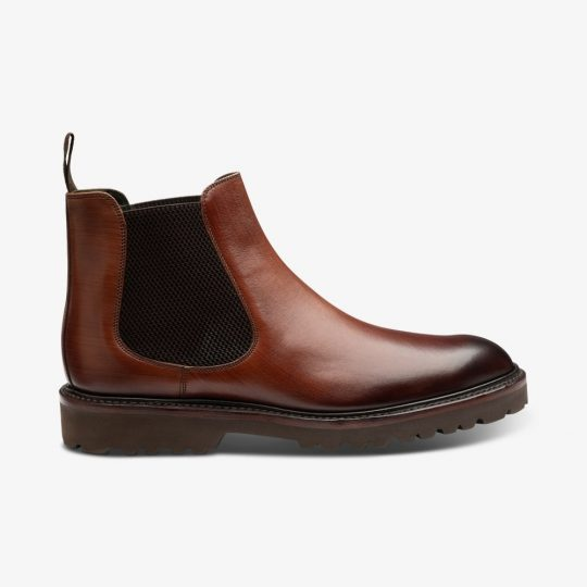 Loake Huxley chestnut brown Chelsea boots