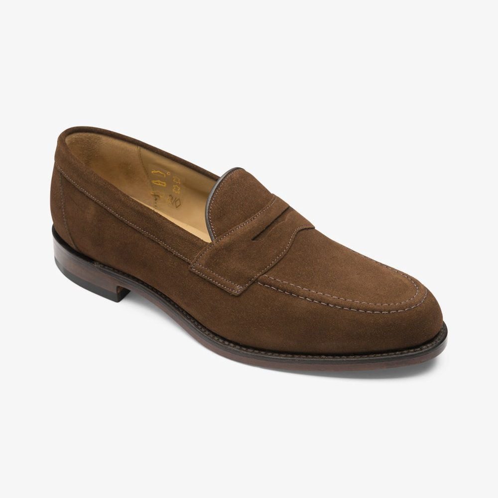 Loake Imperial suede brown penny loafers