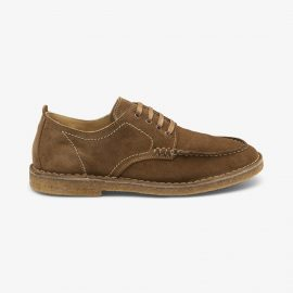 Loake Jimmy suede tan derby shoes