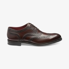 Loake Kerridge dark brown brogue oxford shoes