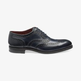 Loake Kerridge navy brogue oxford shoes