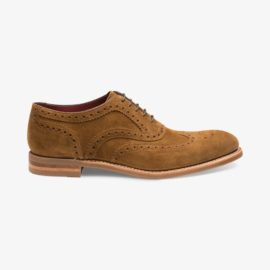 Loake Kerridge suede tan brogue oxford shoes