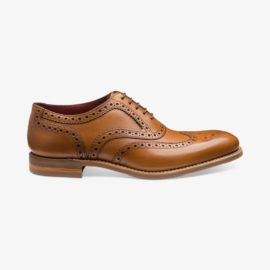 Loake Kerridge tan brogue oxford shoes
