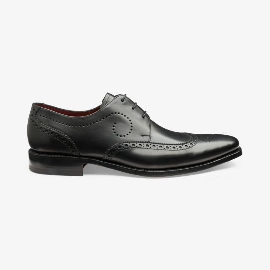 Loake Kruger black brogue derby shoes