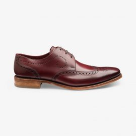 Loake Kruger burgundy brogue derby shoes