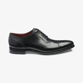 Loake Larch black toe cap oxford shoes
