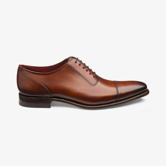 Loake Larch chestnut brown toe cap oxford shoes
