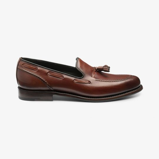 Loake Locke chestnut tassel loafers