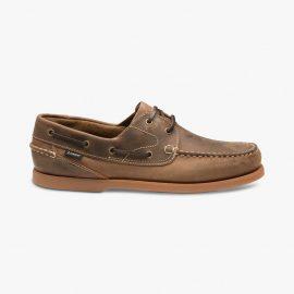 Loake Lymington dark brown boat deck shoes