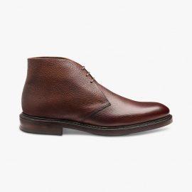 Loake Lytham oxblood chukka boots
