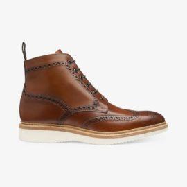 Loake Mamba chestnut brogue boots