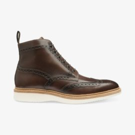 Loake Mamba dark brown brogue boots