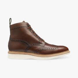 Loake Mamba oxblood brogue boots