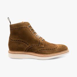 Loake Mamba suede tan brogue boots