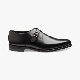 Loake Medway black monk strap shoes