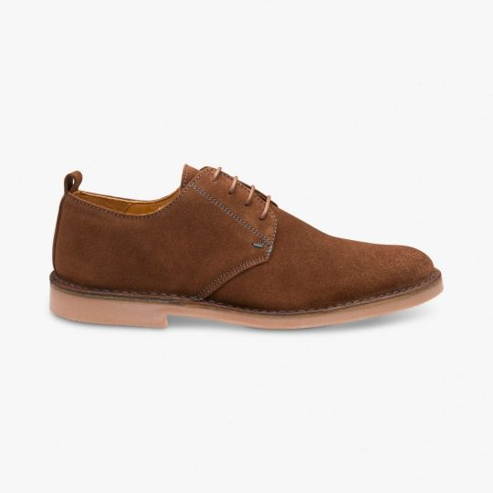 Loake Mojave suede brown derby shoes