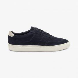 Loake Owens suede navy sneakers