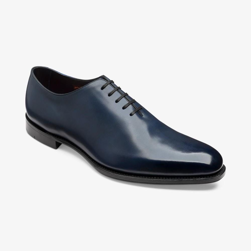 Loake Parliament antique blue wholecut oxford shoes