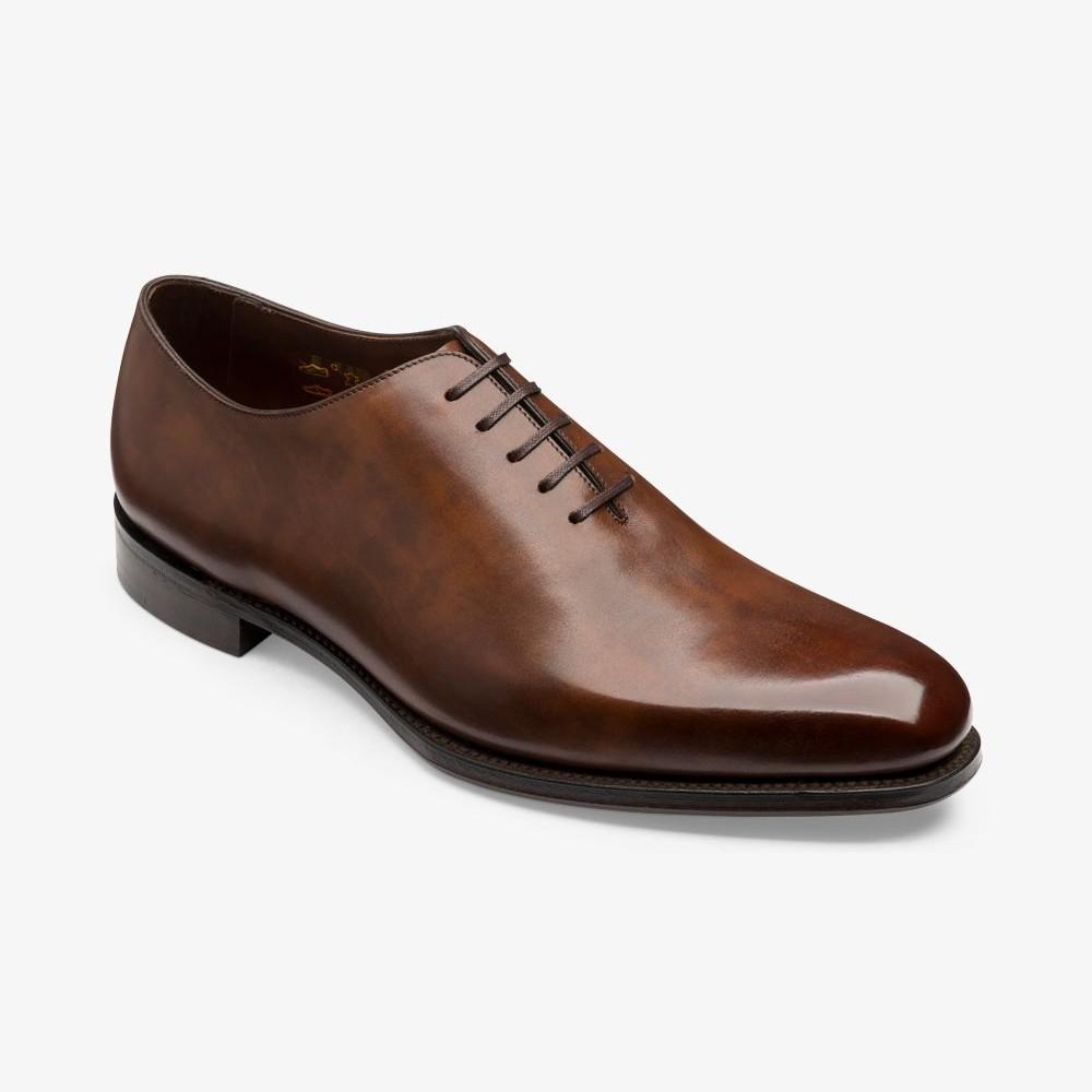Loake Parliament antique brown wholecut oxford shoes
