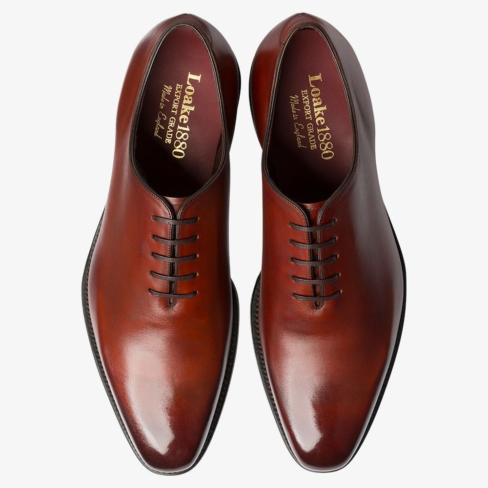 Loake Parliament conker brown wholecut oxford shoes