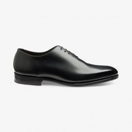 Loake Parliament onyx black wholecut oxford shoes