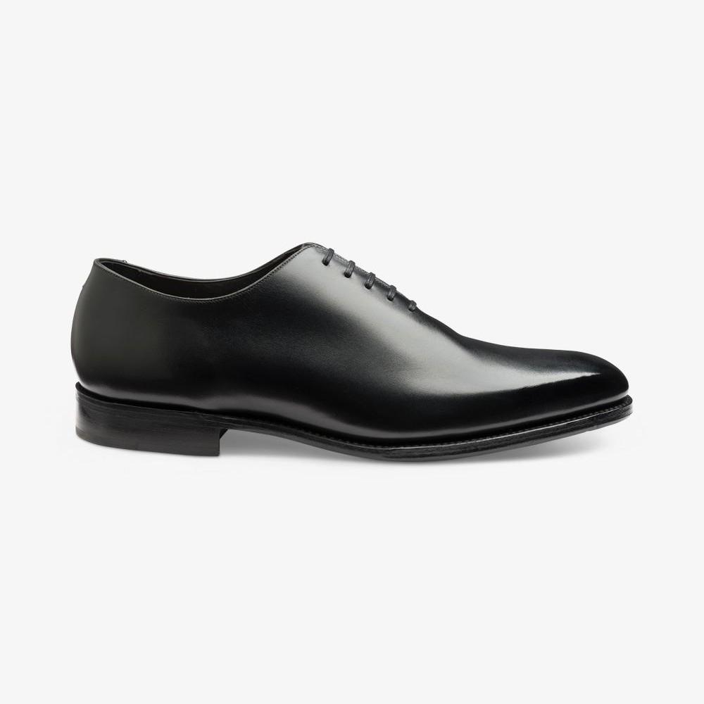 Loake Parliament onyx black wholecut oxford shoes