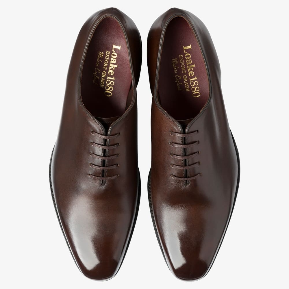 Loake Parliament roasted coffee wholecut oxford shoes