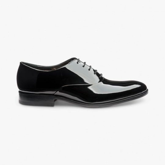 Loake Patent leather black tuxedo oxford shoes