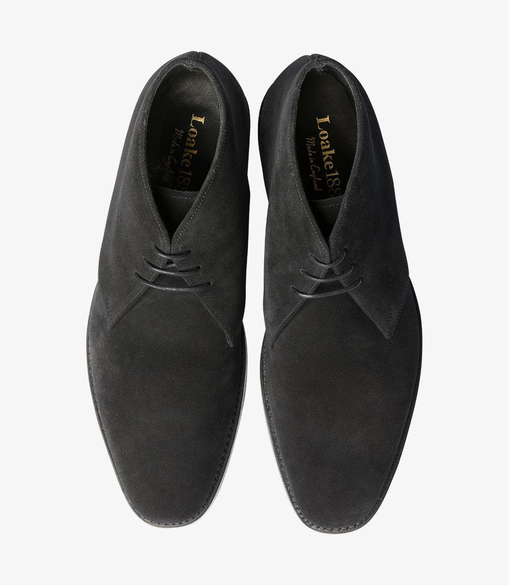 Loake Pimlico suede black chukka boots