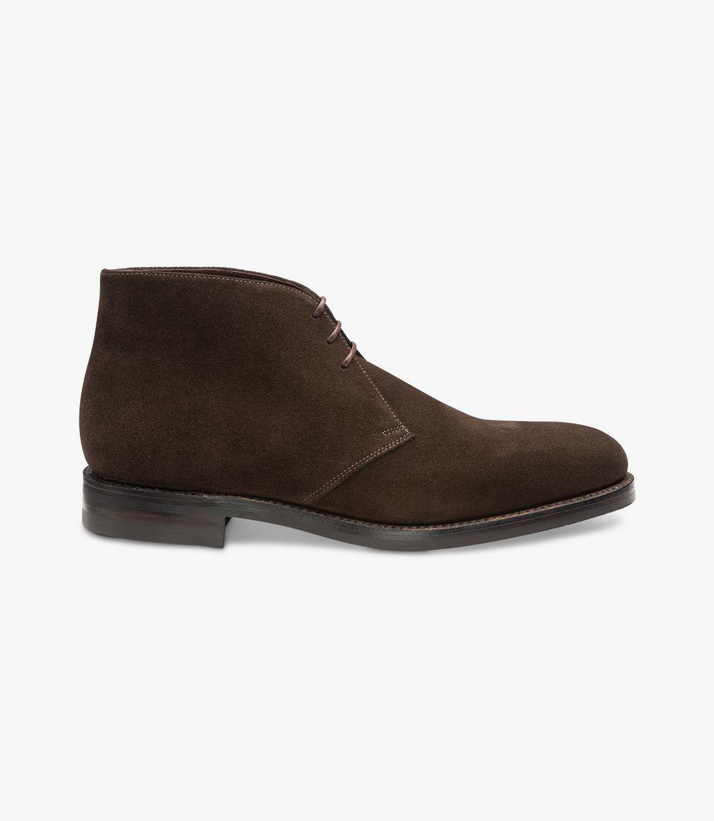 Loake Pimlico suede dark brown chukka boots
