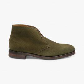 Loake Pimlico suede olive chukka boots