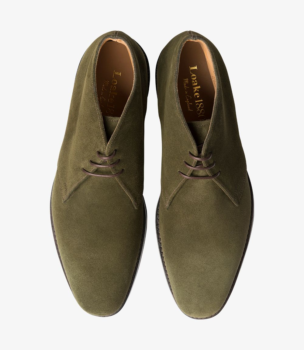 Loake Pimlico suede olive chukka boots