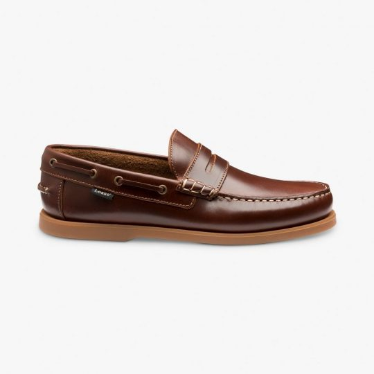 Loake Plymouth brown boat shoes