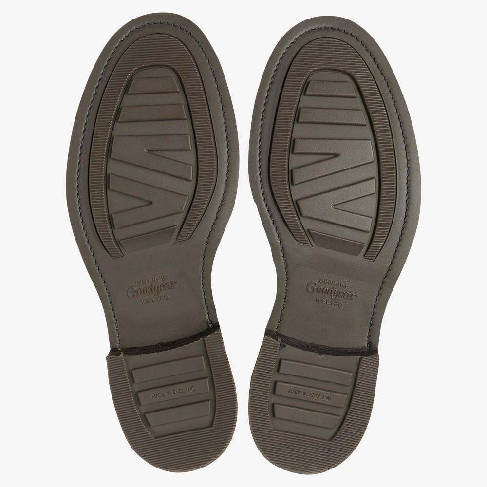 Loake Roehampton dark brown lace up toe cap boots