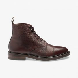 Loake Roehampton oxblood lace up toe cap boots