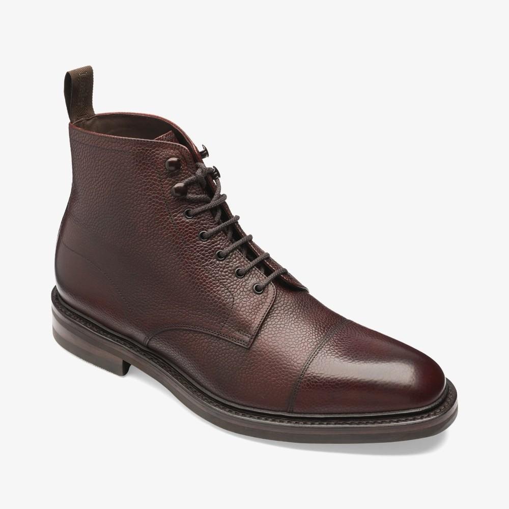 Loake Roehampton oxblood lace up toe cap boots