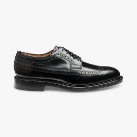 Loake Royal black brogue blucher shoes