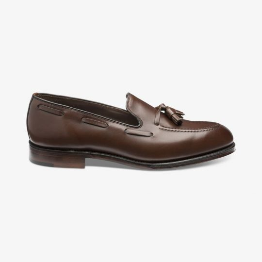 Loake Russell dark brown tassel loafers