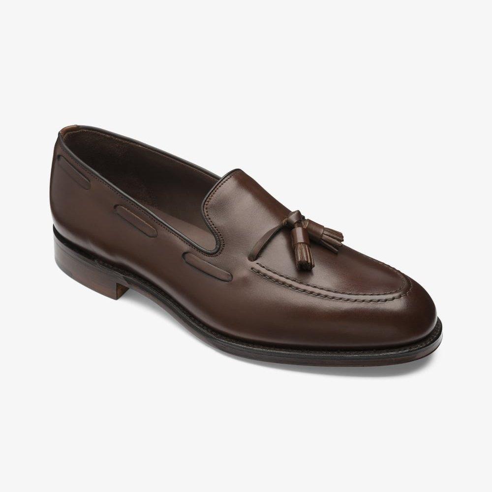Loake Russell dark brown tassel loafers